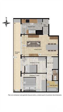 Image 10 : Appartement à 1400 NIVELLES (Belgique) - Prix 670 €