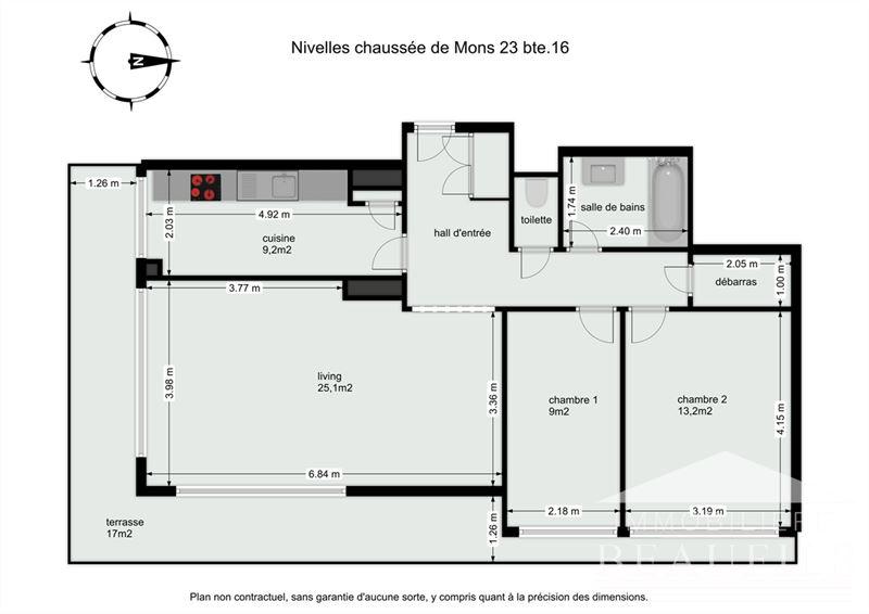 Image 20 : Appartement à 1400 NIVELLES (Belgique) - Prix 770 €
