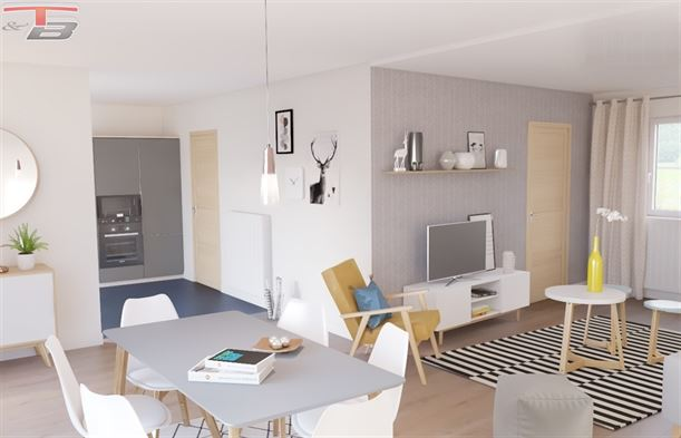 Maison basse énergie neuve 3 chambres de 122m² avec garage, terrasse et jardin bien exposés !