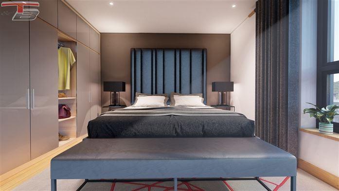 Appartement 3 chambres de 108m² de standing  à l'architecture contemporaine entièrement équipés au centre-ville. PEB A