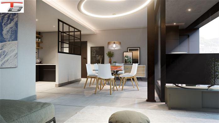 Appartement 3 chambres de standing de 107,25m² à l'architecture contemporaine entièrement équipés au centre-ville. PEB A