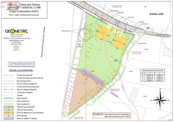 Parcelle libre de constructeur de 2.005m² située sur les hauteurs Verviers (limite Heusy).