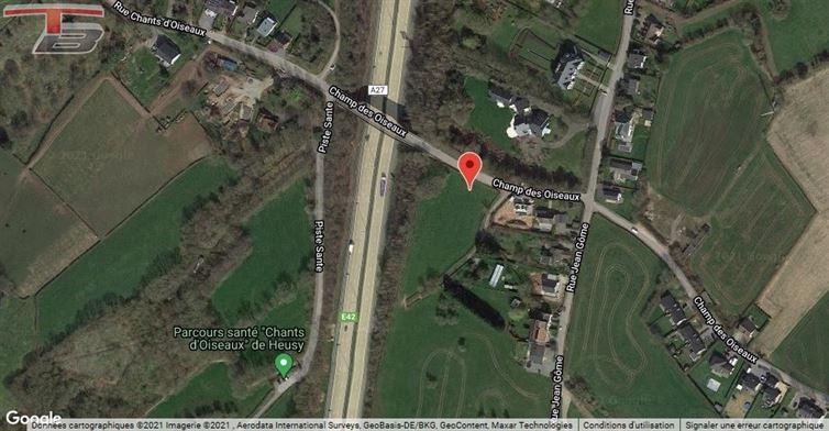 Parcelle libre de constructeur de 1.435m² située sur les hauteurs Verviers (limite Heusy)