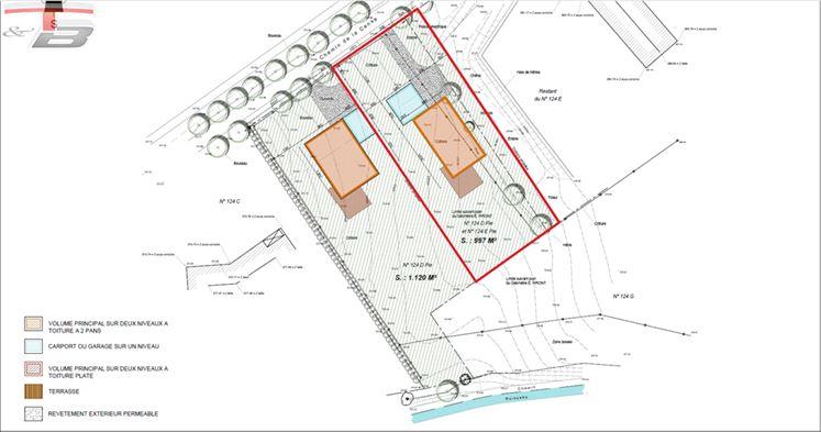 Terrain à bâtir de 997 m² libre de constructeur pour la construction d