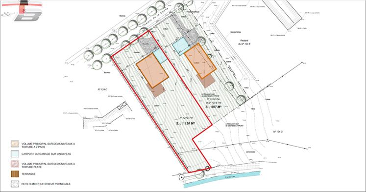 Terrain à bâtir de 1.120 m² libre de constructeur pour la  construction d